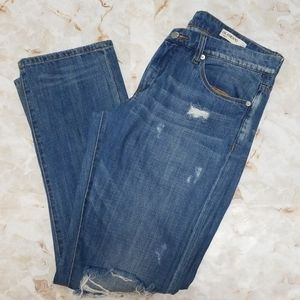 BlankNYC Tomboy Distressed Destructed Jeans